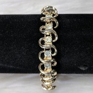 Jewelry - Gold & Rhinestone Bracelet